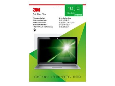 "3M Anti-Glare-filter for bærbar datamaskin med 13,3"" widescreen - Blendfri filter for notebook - 13.3"" - blank (7100142922)"