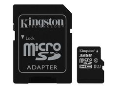 Kingston Canvas Select - Flashminnekort (microSDHC til SD-adapter inkludert) - 32 GB - UHS Class 1 / Class10 - microSDHC UHS-I