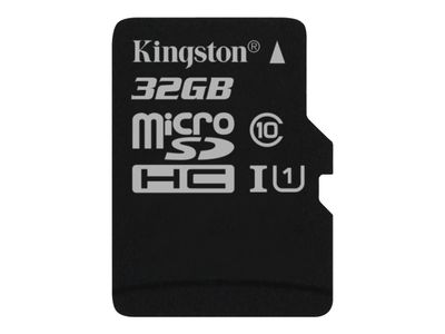 Kingston Canvas Select - Flashminnekort - 32 GB - UHS-I U1 / Class10 - microSDHC UHS-I (SDCS/32GBSP)