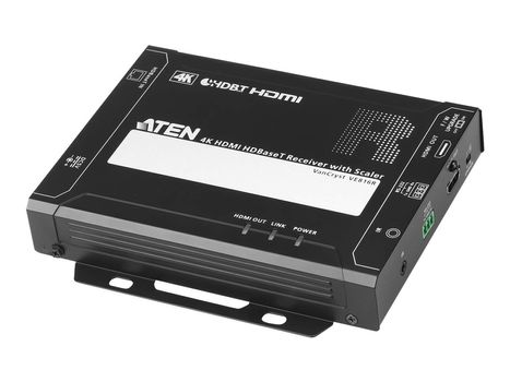 ATEN VE816R 4K HDMI HDBaseT Receiver with Scaler - video/ lyd/ infrarød/ seriell-utvider - HDBaseT (VE816R-AT-G)