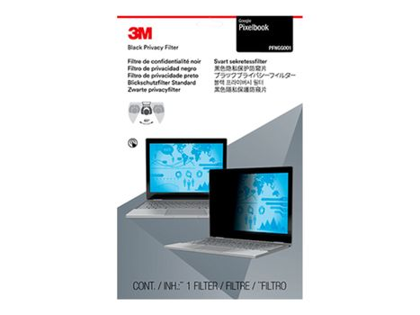 "3M personvernfilter for PixelBook 12.3"" Laptops 16:9 notebookpersonvernsfilter (PFNGG001)"