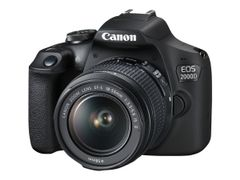 Canon EOS 2000D - Digitalkamera - SLR - 24.1 MP - APS-C - 1080 p / 30 fps - 3optisk x-zoom EF-S 18-55 mm IS II-linse - Wi-Fi, NFC