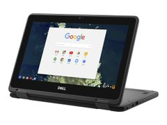 DELL Chromebook 5190 2-in-1 - Flippdesign - Celeron N3350 / 1.1 GHz - Chrome OS - 4 GB RAM - 32 GB eMMC - 11.6