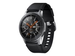 Samsung Galaxy Watch - 46 mm - sølvfarget - smartklokke med bånd - silikon - display 1.3