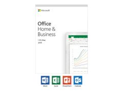 Microsoft Office Home and Business 2019 - Bokspakke - 1 PC/Mac - medieløs - Win, Mac - Engelsk - Eurosone