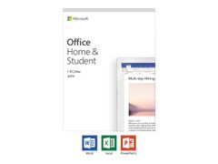 Microsoft Office Home and Student 2019 - Bokspakke - 1 PC/Mac - medieløs - Win, Mac - Engelsk - Eurosone