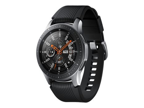 "Samsung Galaxy Watch - 46 mm - sølvfarget - smartklokke med bånd - silikon - display 1.3"" - 4 GB - Wi-Fi, NFC, Bluetooth - 63 g"