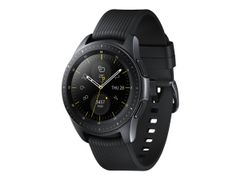 Samsung Galaxy Watch - 42 mm - midnattsvart - smartklokke med bånd - silikon - display 1.2