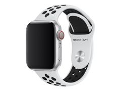 Apple 40mm Nike Sport Band - Klokkestropp - 130-200 mm - ren platina / svart - for Watch (38 mm, 40 mm)