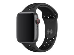 Apple 44mm Nike Sport Band - Klokkestropp - 140-210 mm - antrasitt/svart - for Watch (42 mm, 44 mm)