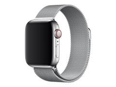 Apple 40mm Milanese Loop - Klokkestropp - 130 - 180 mm - sølv - for Watch (38 mm, 40 mm)