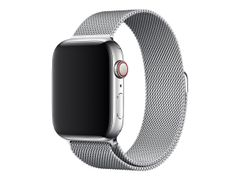 Apple 44mm Milanese Loop - Klokkestropp - 150 - 200 mm - sølv - for Watch (42 mm, 44 mm)