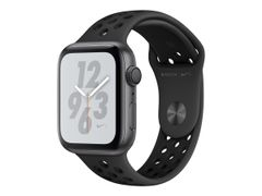 Apple Watch Nike+ Series 4 (GPS) - 40 mm - space gray aluminum - smartklokke med Nike-sportsmerke - fluorelastomer - antrasitt/svart - båndstørrelse 130-200 mm - 16 GB - Wi-Fi, Bluetooth - 30.1 g