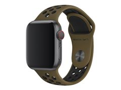 Apple 40mm Nike Sport Band - Klokkestropp - 130-200 mm - oliven flak/ svart - for Watch