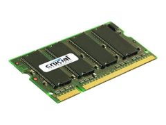 Crucial DDR - 1 GB - SO DIMM 200-pin - 400 MHz / PC3200 - CL3 - 2.5 V - ikke-bufret - ikke-ECC
