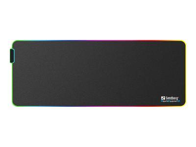 Sandberg RGB Soft Desk Pad XXXL - Belyst tastatur og musematte (520-34)