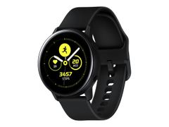 Samsung Galaxy Watch Active - Svart - smartklokke med bånd - fluorelastomer - display 1.1