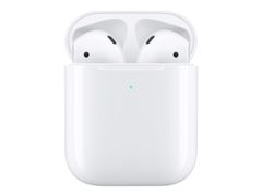 Apple AirPods with Wireless Charging Case - 2nd Generation - ekte trådløse øretelefoner med mikrofon - ørepropp - Bluetooth - for iPhone 11