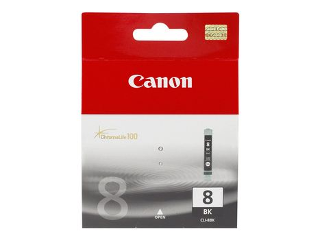 Canon CLI-8BK - 13 ml - svart - original - blekkbeholder - for PIXMA iP4300, iP4500, iP5300, MP520, MP600, MP610, MP810, MP960, MP970, MX850, Pro9000