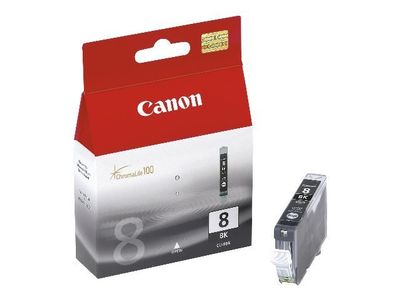 Canon CLI-8BK - 13 ml - svart - original - blekkbeholder - for PIXMA iP4300, iP4500, iP5300, MP520, MP600, MP610, MP810, MP960, MP970, MX850, Pro9000 (0620B001)