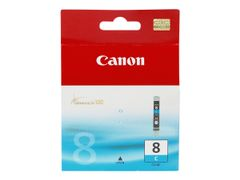 Canon CLI-8C - 13 ml - cyan - original - blekkbeholder - for PIXMA iP3500, iP4500, iP5300, MP510, MP520, MP610, MP960, MP970, MX700, MX850, Pro9000