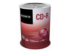 Sony CDQ-80SP - 100 x CD-R - 700 MB (80 min) 48x - spindel