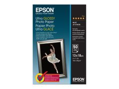 Epson Ultra Glossy Photo Paper - Blank - 130 x 180 mm 50 ark fotopapir - for EcoTank ET-2710, 2711, 2720, 2726, 2756, 4700; Expression Home HD XP-15000