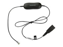 Jabra Smart Cord - Hodetelefonkabel - svart - for Cisco IP Phone 78XX; BIZ 2300; Mitel 74XX; Dialog 42XX, 44XX, 5446; Snom 71X