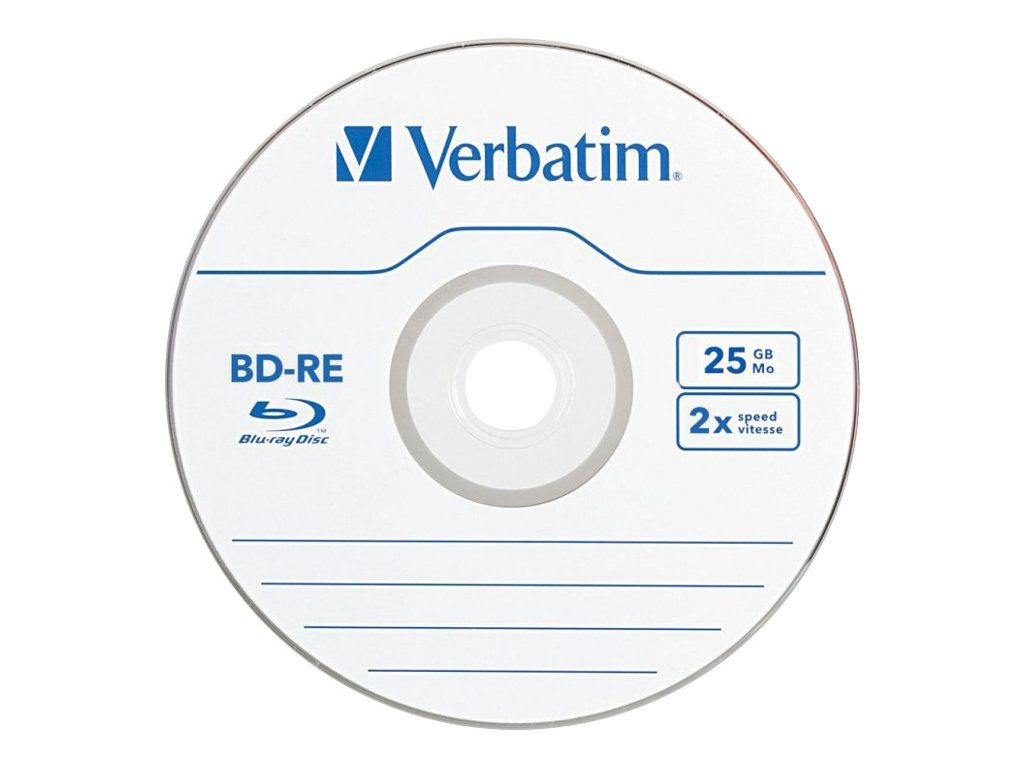 VERBATIM 5 x BD-RE - 25 GB 2x - CD-eske (43615)