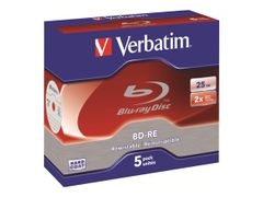 VERBATIM 5 x BD-RE - 25 GB 2x - CD-eske