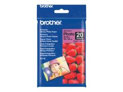 Brother BP 61GLP Premium Glossy Photo Paper - Blank - 9 mille - 102 x 152 mm - 190 g/m² - 20 ark fotopapir - for Brother DCP-J140, MFC-265, J270, J280, J410, J425, J430, J435, J5910, J625, J630, J835