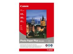 Canon Photo Paper Plus SG-201 - Halvblank - A4 (210 x 297 mm) - 260 g/m² - 20 ark fotopapir - for PIXMA iP3680, MG8250, MP198, MP228, MP245, MP252, MP258, MP476, PRO-1, PRO-10, 100; S450