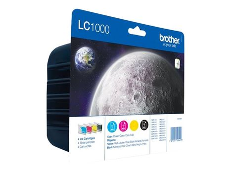 Brother LC1000 Value Pack - 4-pack - svart, gul, cyan, magenta - original - blekkpatron