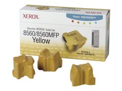 XEROX Phaser 8560MFP - 3-pack - gul - faste blekktyper - for Phaser 8560