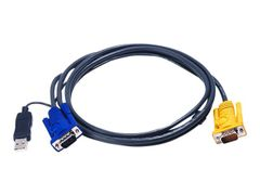 ATEN 2L-5206UP - Video- / USB-kabel - 15-pins SPHD (hann) til USB, HD-15 (VGA) (hann) - 6 m
