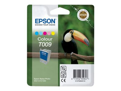 Epson T009 - 66 ml - farge (cyan, magenta, gul, lys cyan, lys magenta) - original - blister - blekkpatron - for Stylus Photo 1270, 1280, 1290, 1290 PS, 1290 Silver, 1290S, 900 (C13T00940110)