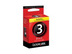LEXMARK Cartridge No. 3 - Svart - original - blekkpatron - for Lexmark X2580, X3580, Z1380