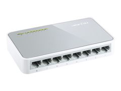 TP-Link TL-SF1008D 8-Port 10/100Mbps Desktop Switch - Switch - 8 x 10/100 - stasjonær