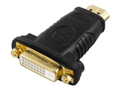 Deltaco Video adapter - HDMI / DVI - HDMI (hann) til DVI-D (hunn)