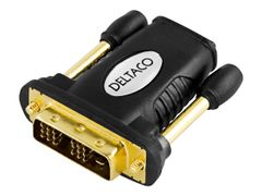 Deltaco Video adapter - HDMI / DVI - HDMI (hunn) til DVI-D (hann) - svart