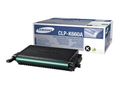 Samsung CLP-K660A - Low Yield - svart - original - tonerpatron - for CLP-610ND, 660ND; CLX-6200FX, 6200ND, 6210FX, 6240FX