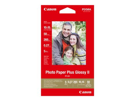 Canon Photo Paper Plus Glossy II PP-201 - fotopapir - 50 ark - 100 x 150 mm - 260 g/m²