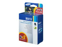 Samsung INK-M41V - 2-pack - svart - original - blekkpatron - for SF-370, 375TP