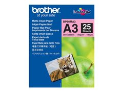 Brother BP - Matt - A3 (297 x 420 mm) - 145 g/m² - 25 ark papir - for Brother MFCJ6530, MFC-J6580, J6583, J6980, J6983, J6995, J6997, J6999