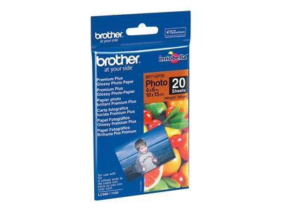 Brother BP - fotopapir - 20 ark - 100 x 150 mm (BP71GP20)