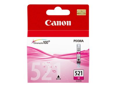Canon CLI-521M - 9 ml - magenta - original - blekkbeholder - for PIXMA iP3600, iP4700, MP540, MP550, MP560, MP620, MP630, MP640, MP980, MP990, MX860, MX870 (2935B001)