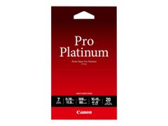 Canon Photo Paper Pro Platinum - 100 x 150 mm - 300 g/m² - 20 ark fotopapir - for PIXMA iP3600, MP240, MP480, MP620, MP980