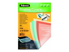 FELLOWES Superclear PVC - A4 (210 x 297 mm) - 150 mikroner - blank - 100 stk PVC-permomslag - for Fellowes Galaxy 500, Galaxy Wire, Pulsar+ 300, Quasar+ 500, Star 150, Star+ 150
