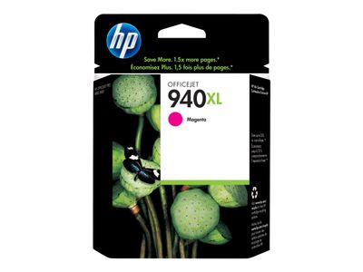 HP 940XL - Høy ytelse - magenta - original - blister - blekkpatron - for Officejet Pro 8000, 8500, 8500 A909a, 8500A, 8500A A910a (C4908AE#201)
