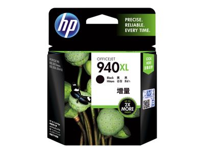 HP 940XL - 49 ml - Høy ytelse - svart - original - Officejet - blekkpatron - for Officejet Pro 8000, 8500, 8500 A909a, 8500A, 8500A A910a (C4906AE)